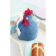 Crocheted hen tea cosy pattern
