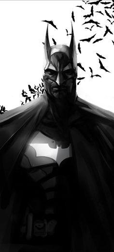 Batman Painting, Batman Artwork, Batman Poster, Batman Wallpaper, Batman The Dark Knight, Batman Arkham Knight, Batman Kunst, Héros Dc Comics, Le Joker Batman