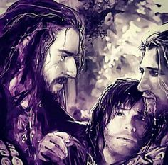 This is when Fili and Kili nearly drown in the river when the horses got loose in chapter two