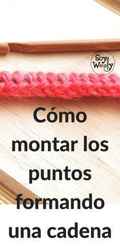 🌸montar los puntos en forma de cadena Knitting Help, Easy Knitting, Knitting Stitches, Crochet Cushions, Crochet Motif, Knit Crochet, Casting On Stitches, Knitting Patterns, Diy And Crafts