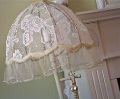 Bedroom ideas shabby chic diy lamp shades ideas for 2019 Lace Lampshade, Lampshade Redo, Lampshades, Crochet Lampshade, Shabby Chic Crafts, Shabby Chic Decor, Shabby Chic Bedrooms, Shabby Chic Furniture, Swedish Decor