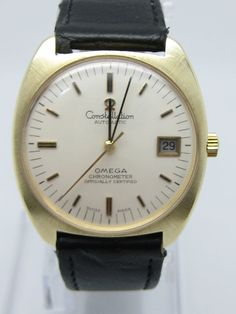 OMEGA CONSTELLATION Vintage Automatic Movement Gold 14Carat Gent Watch with Box