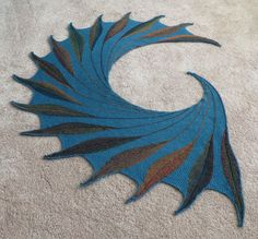 First Knit Shawl!!! Rainy Florida Dreambird - wow! Wish there was a pattern for this.