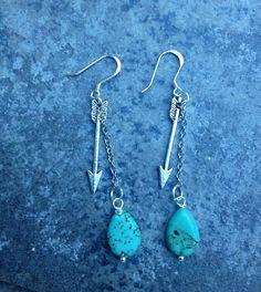 THE ARROW and TEARDROP Earrings //  Petite Arrow by ShopParadigm, $28.00