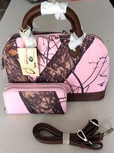 Mossy Oak Purse WITH Matching Wallet (Pink Brown Camo) Mossy Oak http://www.amazon.com/dp/B00M5DLTJG/ref=cm_sw_r_pi_dp_8UEmub05N2W40