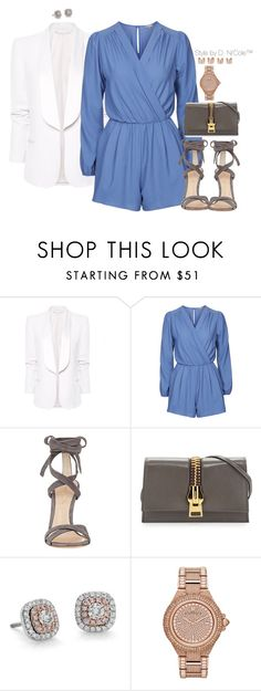 """Untitled #3252"" by stylebydnicole ❤ liked on Polyvore featuring MANGO, Topshop, Gianvito Rossi, Tom Ford, Blue Nile, Michael Kors and Maison Margiela"