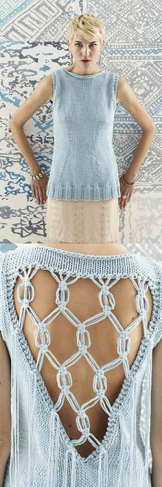 Macrame Sleeveless Top /Vogue Knitting