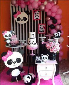 44 Ideas baby shower ides decoracion panda for 2020 Panda Themed Party, Panda Birthday Party, Panda Party, Panda Decorations, Balloon Decorations, Birthday Party Decorations, Baby Shower Decorations, Panda Baby Showers, Elephant Baby Showers