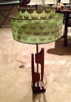 Mid Century Lamp.....I would have hated this when I was young. Still would prefer another shade or at least color of shade :)