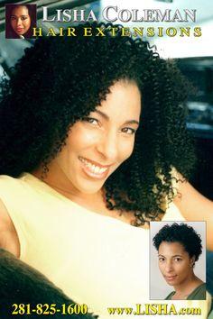 Hair Extensions Houston 281-825-1600 www.LISHA.com Lisha Coleman voted BEST by Allure Magazine