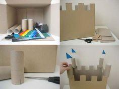 Como hacer un Castillo de Carton <sub>Infantil</sub> - enrHedando