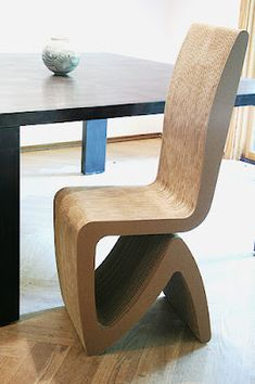 Terramia: Davis Bold Chair by designer Jeff Beene. Created from recycled corrugated cardboard.