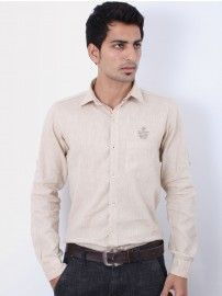 Rig Anthony #Men Cream #Plain #Shirt