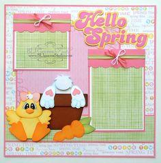 BLJ Graves Studio: Hello Spring Scrapbook Page