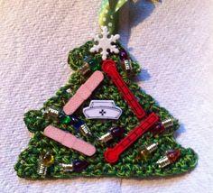 Nurse Nursing Christmas Ornament Handmade by HaldaneCreations