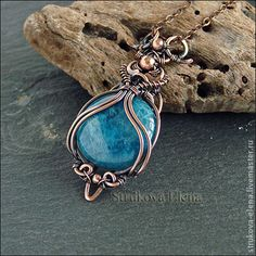 Wire and stone pendant