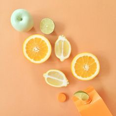 Clare Nicolson / styling/ oragne/ yellow/ lemon/ lime/ apple/ food/