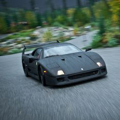 F40 + rain + curvy mountain road = ride of a lifetime.