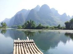 Image result for yulong river bamboo rafting