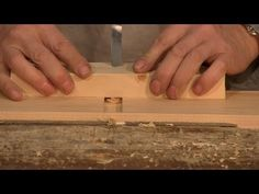 Make a hand router out of a chissel - aka poor mans router by Paul Sellers.