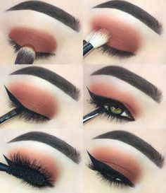 Gorgeous Makeup: Tips and Tricks With Eye Makeup and Eyeshadow – Makeup Design Ideas Red Eye Makeup, Makeup Eye Looks, Eye Makeup Steps, Makeup For Green Eyes, Smokey Eye Makeup, Skin Makeup, Eyeshadow Makeup, Golden Eyeshadow, Natural Eyeshadow