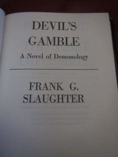 1977 ** Devils Gamble ** Frank G Slaughter  **sj by theadlibrary on Etsy
