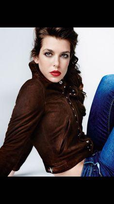 Charlotte Casiraghi wearing a Saint Laurent jacket