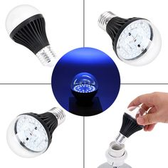 7w 25 Led 365nm Uv Light Bulb Ultraviolet Blacklight With E27 Lamp Base For Sterilization Attracting Insects Monetary Validation Crazy Price Lights & Lighting Light Bulbs