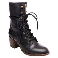 Soho Cobbler Women's Cameliah Leather Trooper Boots - Black 9.5