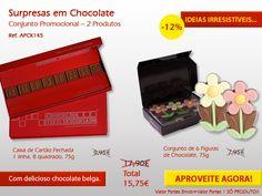 Flores em Chocolate e uma mensagem em quadradinhos de chocolate. Não perca.... Ideias originais em chocolate! http://www.mysweets4u.com/pt/?o=1,5,202,49,3,0