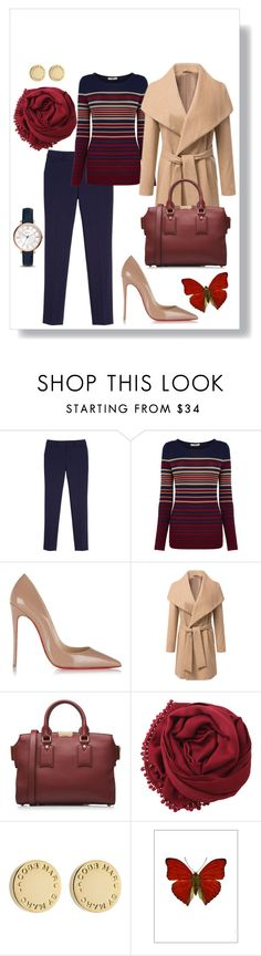 """Blue chiq"" by leonorc ❤ liked on Polyvore featuring White House Black Market, Oasis, Christian Louboutin, Burberry, Bajra, Marc by Marc Jacobs, Liljebergs and FOSSIL"