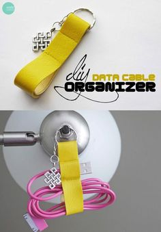 76 Crafts To Make and Sell - Easy DIY Ideas for Cheap Things To Sell on Etsy, Online and for Craft Fairs. Make Money with These Homemade Crafts for Teens, Kids, Christmas, Summer, Mother's Day Gifts. |  DIY Data Cable Organizer Key Chain  |  diyjoy.com/crafts-to-make-and-sell