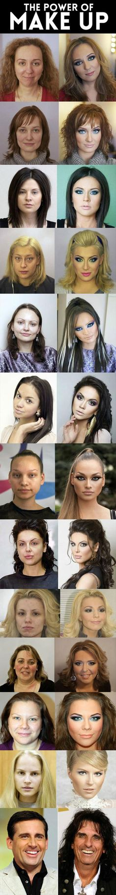 They should have done the makeup pics first then the natural pics and titled…