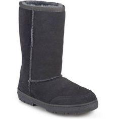 Brinley Co. Womens Sheepskin Shearling Boots, Women's, Size: 8, Gray