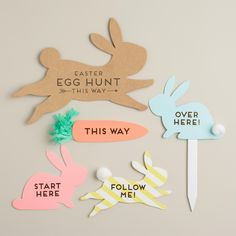 Easter Egg Hunt Signs Kit (item# 485967) ~ $15 | from World Market spring 2015 collection
