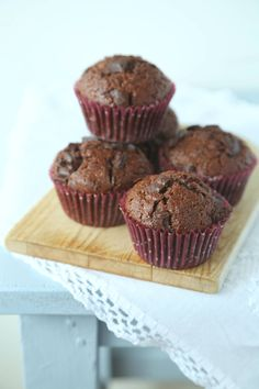 Unsweetened Cocoa, Muffins, Oven, Cupcakes, Chocolate, Baking, Breakfast, Brownies, Mad