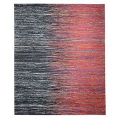 Indian Red Black Shade Saree Silk Rug for $999 at Carpet Culture