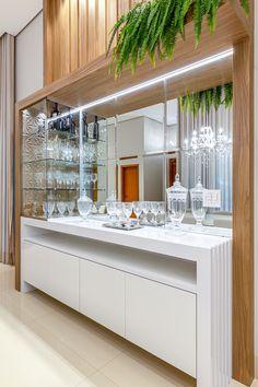 Kitchen Room Design, Interior Design Kitchen, Home Bar Rooms, Crockery Cabinet, Modern Home Bar, Table Decor Living Room, Living Room Tv Unit Designs, Appartement Design, Home Bar Designs