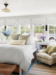 Love these Roman shades in this bedroom