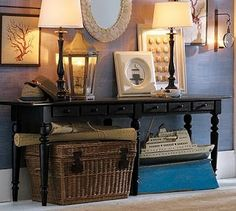 tivoli collection from pottery barn. great long console table for foyer area Furniture Upholstery, Home Furniture, Entryway Furniture, Table Furniture, Outdoor Furniture, Consoles, Pottery Barn Inspired, Dining Room Inspiration, Entryway Tables
