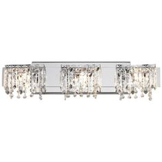 "Possini Euro Crystal Strand 25 3/4"" Wide Bath Light.  Possibility for the new hall bath. May look a bit overdone."