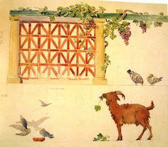 Projecto de decoração para a Escola Primária de Alcântara (imagem de Raul Lino: Artes Decorativas, FRESS, 1990).