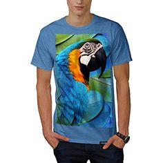 Tropical Parrot Bird Paradise Men NEW Royal Blue T-shirt XXXXXL   Wellcoda � Friendly Faces
