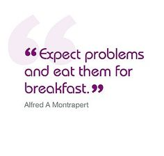 Expect problems and eat them for breakfast! #revision #gcse #alevel #quote