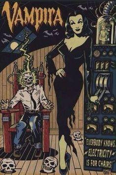 Vampira Comic Art by Vince Ray Vintage Horror, Vintage Cartoon, Vintage Comics, Creepy Vintage, Halloween Kunst, Arte Obscura, Horror Movie Posters, Horror Films, Horror Comics