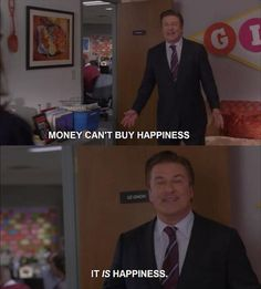 From his thoughts on Shel Silverstein (communist) to his motto on bad ideas, enjoy these twenty-eight funny Jack Donaghy quotes from 30 Rock! Jack Donaghy Quotes, 30 Rock Quotes, Tv Quotes, Random Quotes, Funny Picture Quotes, Funny Pictures, Money Cant Buy Happiness, Alec Baldwin, Tina Fey
