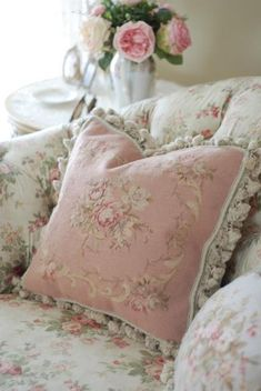 .Needlepoint pillows.... especially the florals