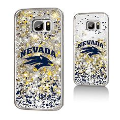 Nevada Wolf Pack Gold Glitter Galaxy S7 Case NCAA  http://allstarsportsfan.com/product/nevada-wolf-pack-gold-glitter-galaxy-s7-case-ncaa/  Officially Licensed by the NCAA Designed and printed in Portland, OR USA Solid acyrlic body with floating glitter back.