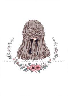 Style Anime, Paper Dolls Clothing, Hair Sketch, Anime Hair, Beautiful Anime Girl, Pencil Art Drawings, How To Draw Hair, Anime Art Girl, Aesthetic Art