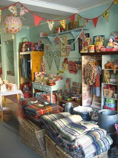 Girl's Own Store in Bridport, England, with at least $100 to spend as I please.